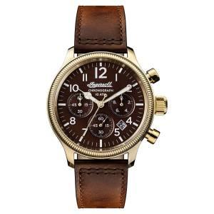 [インガソール]Ingersoll Automatic Stainless Steel and Leather Casual Watch, Color:Brown I03802