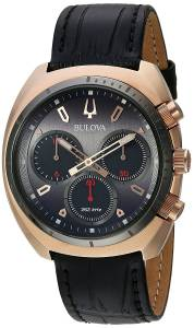 [ブローバ]Bulova  'Curv Collection' Quartz Stainless Steel and Leather Casual Watch, 98A156