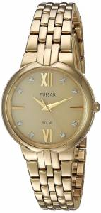 [パルサー]Pulsar  Quartz Stainless Steel Dress Watch, Color:GoldToned PY5026 レディース