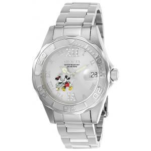 [インヴィクタ]Invicta Disney Steel Bracelet & Case Quartz SilverTone Dial Analog Watch 22867