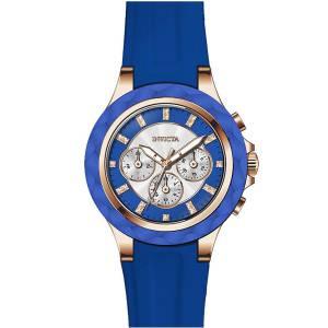 [インヴィクタ]Invicta  Angel Blue Silicone Band Steel Case Quartz Analog Watch 22677