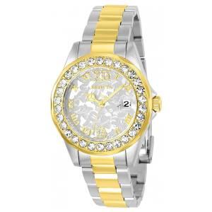 [インヴィクタ]Invicta Disney GoldTone Steel Bracelet & Case Quartz SilverTone Dial 22871