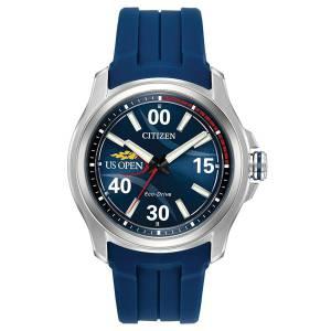 [シチズン]Citizen  US Open Blue/Blue Polyurethane Analog EcoDrive J830 Watch AW2010-01L