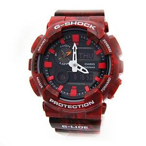 [カシオ]Casio 腕時計 GShock NEW! GLide Red Watch GAX-100MB-4A [逆輸入]