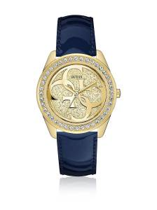 [ゲス]GUESS  U0627L10 Gold Leather Japanese Quartz Fashion Watch W0627L10 レディース