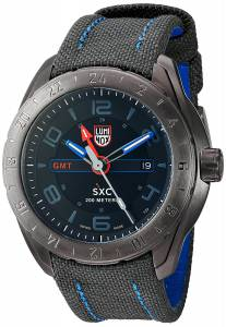 [ルミノックス]Luminox 'SXC/XCOR GMT' Swiss Quartz Stainless Steel and Canvas Aviator 5121