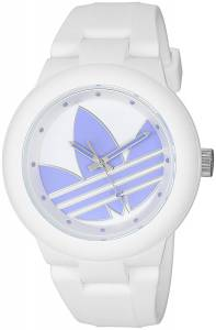 [アディダス]adidas  'Aberdeen' Quartz Plastic and Silicone Casual Watch, Color:White ADH3144