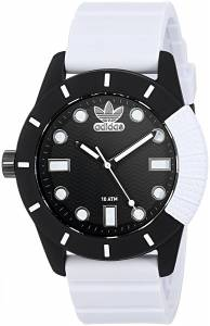 [アディダス]adidas  'ADH1969' Quartz Plastic and Silicone Casual Watch, Color:White ADH3132