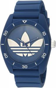 [アディダス]adidas  'Santiago' Quartz Plastic and Silicone Casual Watch, Color:Blue ADH3138