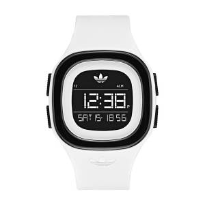 [アディダス]adidas  'Denver' Quartz Plastic and Silicone Casual Watch, Color:White ADH3134