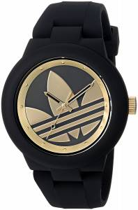 [アディダス]adidas  'Aberdeen' Quartz Rubber and Silicone Casual Watch, Color:Black ADH3207