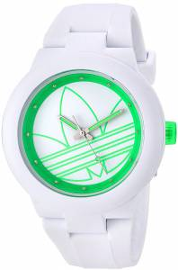 [アディダス]adidas  'Aberdeen' Quartz Rubber and Silicone Casual Watch, Color:White ADH3212