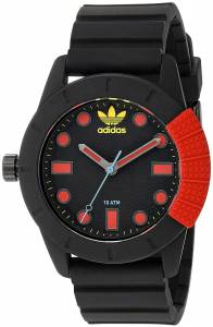 [アディダス]adidas  'ADH1969' Quartz Plastic and Silicone Casual Watch, Color:Black ADH3176
