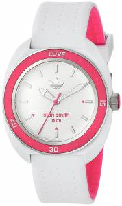 [アディダス]adidas 'Stan Smith' Quartz Plastic and Silicone Casual Watch, Color:White ADH3188