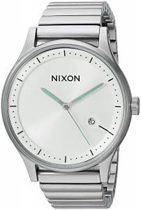 [ニクソン]NIXON  'Station' Quartz Stainless Steel Casual Watch, Color:SilverToned A1160100-00