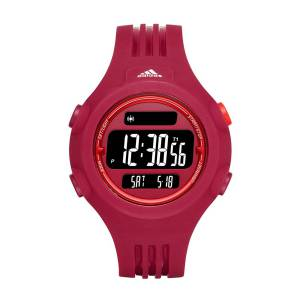 [アディダス]adidas  'Questra' Quartz Rubber and Silicone Casual Watch, Color:Red ADP3284