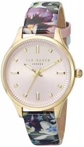 [テッド ベーカー]Ted Baker 'ZOE' Quartz Stainless Steel and Leather Dress WatchMulti 10031555