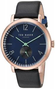 [テッド ベーカー]Ted Baker 'OLIVER' Quartz Stainless Steel and Leather Dress Watch, 10031515
