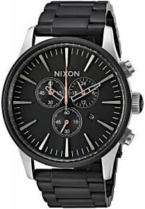 [ニクソン]NIXON  'Sentry Chrono' Quartz Stainless Steel Casual Watch, Color:Black A3862541-00