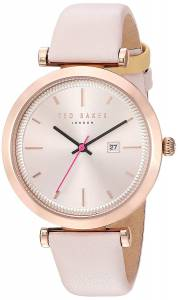 [テッド ベーカー]Ted Baker  'AVA' Quartz Stainless Steel and Leather Dress Watch, 10031518