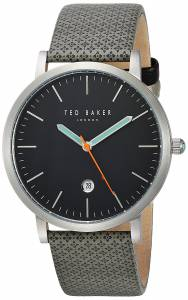 [テッド ベーカー]Ted Baker 'GRAHAM' Quartz Stainless Steel and Canvas Dress Watch, 10031493