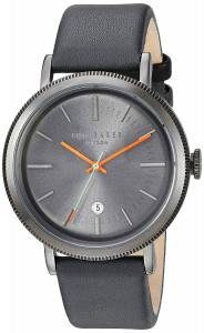 [テッド ベーカー]Ted Baker 'CONNOR' Quartz Stainless Steel and Leather Dress Watch, 10031507