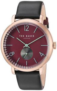 [テッド ベーカー]Ted Baker 'OLIVER' Quartz Stainless Steel and Leather Dress Watch, 10031516