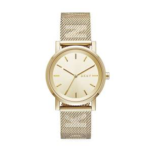 [ダナキャラン]DKNY  'SoHo' Quartz Stainless Steel Casual Watch, Color:GoldToned NY2621