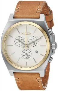 [ニクソン]NIXON 'Time Teller Chrono' Quartz Stainless Steel and Leather Casual A11642548-00