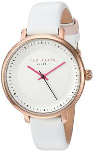 [テッド ベーカー]Ted Baker  'ISLA' Quartz Stainless Steel and Leather Dress Watch, 10031529