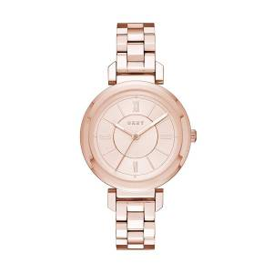 [ダナキャラン]DKNY 'Ellington' Quartz and StainlessSteelPlated Casual Watch, Color:Rose NY2584
