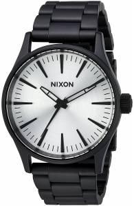 [ニクソン]NIXON  'Sentry 38 SS' Quartz Stainless Steel Casual Watch, Color:Black A4502345-00