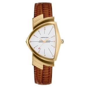 [ハミルトン]Hamilton 腕時計 Ventura Quartz Brown Leather Strap Watch H24301511 メンズ