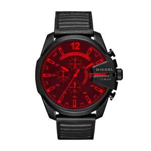 [ディーゼル]Diesel  'Mega Chief' Quartz Stainless Steel and Leather Casual Watch, DZ4460