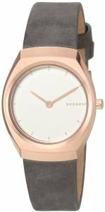 [スカーゲン]Skagen  'Asta' Quartz Stainless Steel and Leather Casual Watch, SKW2652