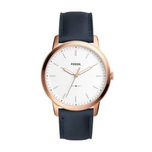 [フォッシル]Fossil 'Minimalist' Quartz Stainless Steel and Leather Casual Watch, FS5371