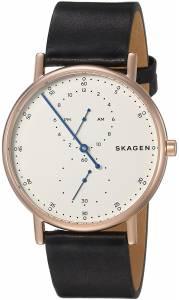 [スカーゲン]Skagen  'Signatur' Quartz Stainless Steel and Leather Casual Watch, SKW6390