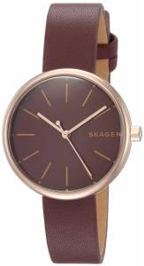 [スカーゲン]Skagen  'Signatur' Quartz Stainless Steel and Leather Casual Watch, SKW2646