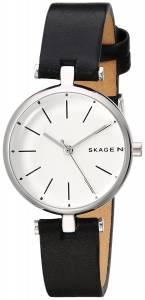 [スカーゲン]Skagen 'Holst' Quartz Stainless Steel and Leather Casual Watch, Color:Green SKW6394