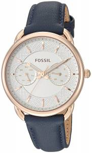 [フォッシル]Fossil 'Tailor' Quartz Stainless Steel and Leather Casual Watch, Color:Blue ES4260