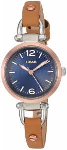 [フォッシル]Fossil  'Georgia' Quartz Stainless Steel and Leather Casual Watch, ES4277