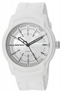 [ディーゼル]Diesel  'Armbar' Quartz Resin and Silicone Casual Watch, Color:White DZ1829
