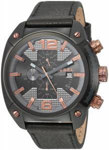 [ディーゼル]Diesel  'Overflow' Quartz Stainless Steel and Leather Casual Watch, DZ4462