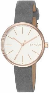 [スカーゲン]Skagen  'Signatur' Quartz Stainless Steel and Leather Casual Watch, SKW2644