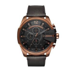 [ディーゼル]Diesel  'Mega Chief' Quartz Stainless Steel and Leather Casual Watch, DZ4459
