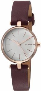 [スカーゲン]Skagen  'Signatur' Quartz Stainless Steel and Leather Casual Watch, SKW2641