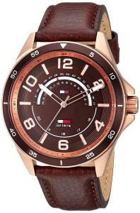 [トミー ヒルフィガー]Tommy Hilfiger 'SPORT' Quartz Gold and Leather Casual Watch, 1791392