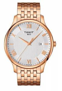 [ティソ]Tissot  Watch Tradition Rose Gold 42mm Stainless Steel T063.610.33.038.00 メンズ