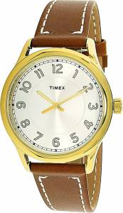 [タイメックス]Timex  Brown Leather Analog Quartz Fashion Watch TW2R23000 レディース