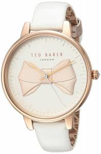 [テッド ベーカー]Ted Baker 'BROOK' Quartz Stainless Steel and Leather Casual TEC0185005